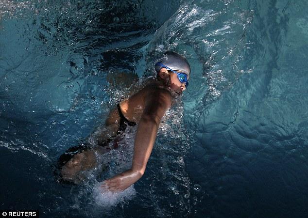 basketball girl swimming